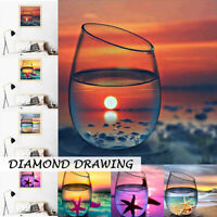 4 Pack 5D Diamond Painting Full Drill Embroidery Art Home Decor The Cup Scenery