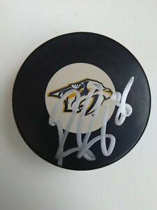 Pekka Rinne signed autographed hockey puck Nashville Predators