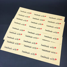 Vintage HandMade With Love Long Kraft Seal sticker Paper Scrapbooking lable 120