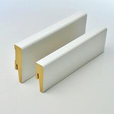 PAKET von MDF Sockelleisten 60-80mm Weimarer 2,5m Fußleisten weiß Boden Holz TOP