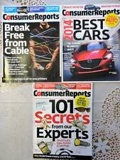 Consumer Reports Lot of 3 2014 Best Cars Magazines Back Issues
