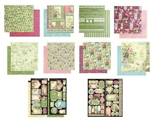Graphic 45 Bloom Collection 12 x 12 Cardstock Flowers Grow Love Plant U PICK