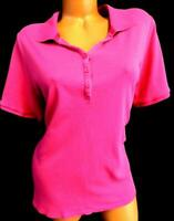 Lane bryant pink pretty & perfect tee collared buttoned polo shirt top 18/20