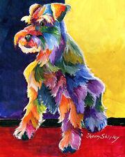 Schanauzer Three an 8x10 Print DOG by Sherry Shipley