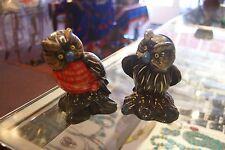 Pair of ceramic owl coin banks