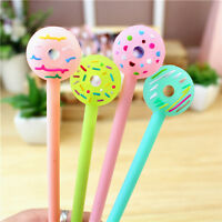 6Pcs Cute Cartoon Doughnuts Lovely Gel pen Candy Color Students Kids Pens Gifts