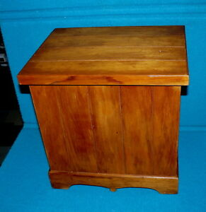 """Sweet Vintage : HAND CRAFTED """"Solid"""" WOOD CHEST @ Perfect for 12"""" Vinyl RECORDS"""