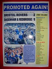 Bristol Rovers 2 Dag & Red 1 - Bristol Rovers promoted - 2016 - souvenir print