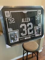 Marcus Allen Authentic Autograph framed jersey COA Beckett Raiders!!!!