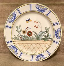 """Fabulous 14"""" Tiffany & Co Este Ceramiche Hand Painted Floral Charger Plate"""