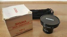 SIGMA Wide Converter x0.5 for AF Video Camera BOXED VINTAGE