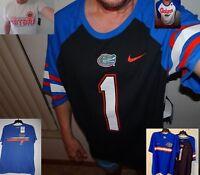 NEW NIKE University of Florida Gators Short Sleeve T Shirt  M L Xl 2XL Gray Blue