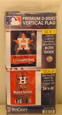 """HOUSTON ASTROS 2017 WORLD SERIES CHAMPIONS 28""""X40"""" DOUBLE SIDED BANNER FLAG NEW"""