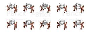 10 Custom Drahtsperren Hindernisse für Klemmbausteine Lego®,Kazi®,Sluban®,Cobi®