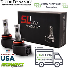 Diode Dynamics H11 SL1 Cool White LED Headlight Pair 15-18 Ford F-150 Low Beam