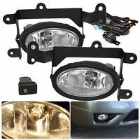 06-08 HONDA CIVIC 2DR COUPE JDM FRONT BUMPER FOG LIGHTS CLEAR SWITCH HARNESS