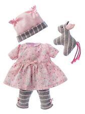 Käthe Kruse 0136802 Kleid mit Leggings Rosa-grau 30-33 Cm