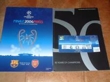 2006 Champions League Final Arsenal v Barcelona Programme + Ticket Originals.