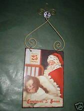 VINTAGE ENAMEL1930'S STYLE CHRISTMAS DECORATIONS.