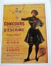 Olympic Poster Reprint for Olympic Games 1900 in Paris Offset Lithograph 16x12