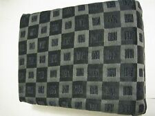 """Allen Roth Cornwall Onyx Black Square Chenille Curtain Panels Back Tab 84"""" (2)"""