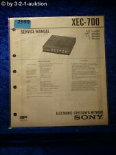 Sony Service Manual XEC 700 Electronic Crossover Network (#2999)