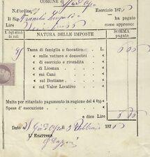 Imposta sul Fuocatico Regno di Napoli Camino San Giovanni D'Asso in Siena 1876