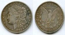 ETATS UNIS @ USA @ SUPERBE MORGAN DOLLAR ARGENT DE 1921 D @ BELLE QUALITE @ TOP