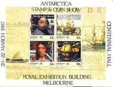Stamps Australia Navigators mini sheet Antarctic AAT overprint limited edition