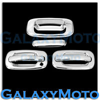 99-06 Chevy Silverado Triple Chrome 2 Door handle w/o PSG Keyhole+Tailgate Cover
