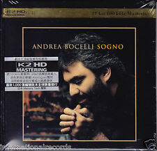 """""""Andrea Bocelli - Sogno"""" Japan K2HD CD Limited Numbered Edition New Sealed CD"""