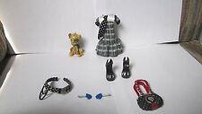Monster High 1st Wave Frankie Stein Outfit Pet Shoes Dress Belt Bag Lot