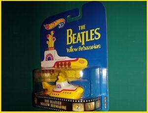 "Hot Wheels 50th Anniversary The Beatles Yellow Submarine 3"" 2017 diecast toy"