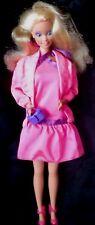 1980's ROCKER BARBIE DOLL TWIST WAIST   PINK HALTER DRESS JACKET SHOES PURSE
