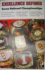 OU Seven National  Championships Poster  Excellence Defined championship Rings