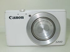 Canon PowerShot S200 10.1MP Digital Camera - White +16gb