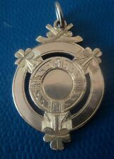 Irish Hurling / Shinty 9ct Rose Gold Fob Medal h/m 1930 T & A Heine of Waterford