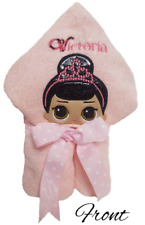 Personalized Hooded Towel/w  PrincessCharacter Embroidered On Hood Toddler,...