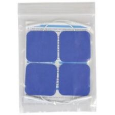 4 Replacement Pads for Massagers / Tens Units electrode pads 2x2 Inch Blue Cloth