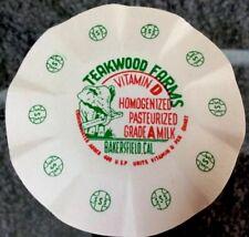 Lot of 10 Teakwood Dairy Farms Crimp Style Milk Bottle Cap Elephant Logo NOS HTF