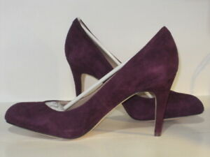 LANDS END WOMEN'S ASHBY ESSENTIAL HIGH HEEL SHOES 10B MULBERRY WINE -NEW NO BOX!