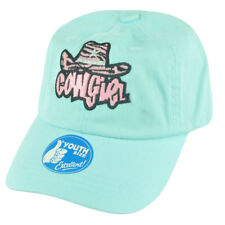Cowgirl Las Vegas Youth Blue  Slouch Relaxed Garment Wash Hat Cap Girl