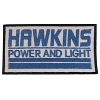 Stranger Things Hawkins Power ands Light Iron On Patch Cosplay/Fancy Dress Badge