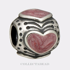 Authentic Pandora Silver Enamel Pink Hearts Bead 790591EN28 50% OFF CLEARANCE!