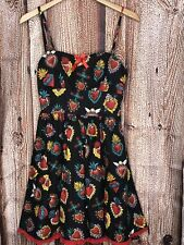 GOLIGHTLY PINUP DRESS SACRED HEART SIZE SMALL EUC