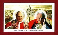 SANTINO - HOLY CARD- IMAGE PIEUSE - S.GIOVANNI XXIII - S.GIOVANNI PAOLO II
