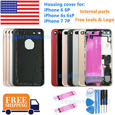 New iPhone 6 6S 7 7Plus Back Housing Frame Rear Full Cover Small Parts & LOGO