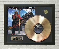 "Stevie Ray Vaughn Framed wood Reproduction Signature LP Record Display. ""M4"""
