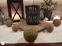 Rae Dunn By Magenta Black PAPA BEAR Coffee Tea Mug Cup Ceramic Artisan NEW