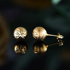 Sevil 18K Gold Plated Diamond- Cut Ball Stud Earrings